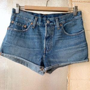 NWOT LEVI'S 501 Blue Jean Shorts